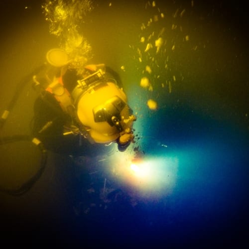 Some of the most interesting lessons in commercial diving are learned under the sea.