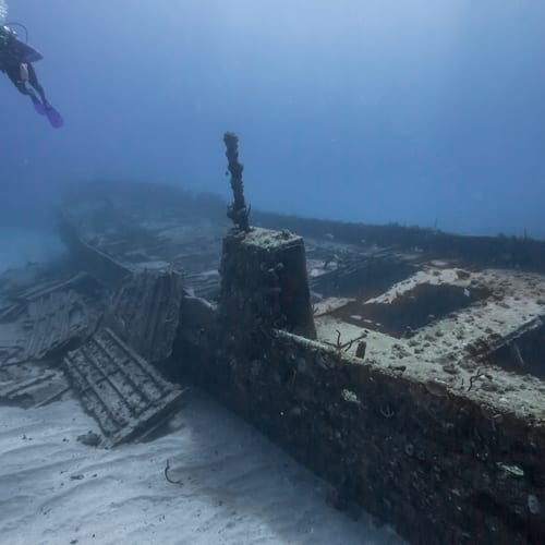 Shipwrecks are among the places commercial divers are needed.