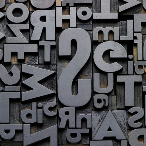 Typeface recovered from Thames river